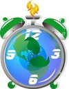 Free Ecological Time Clock,, Has Time Run Out Stock Images - 17390654