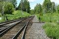 Free Muskoka Rail Track Stock Photography - 17393072