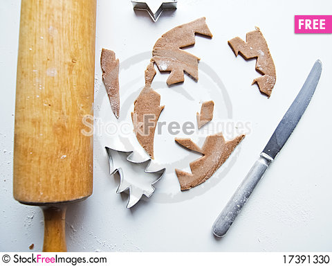 Free Christmas Gingerbread Cookies Stock Photo - 17391330
