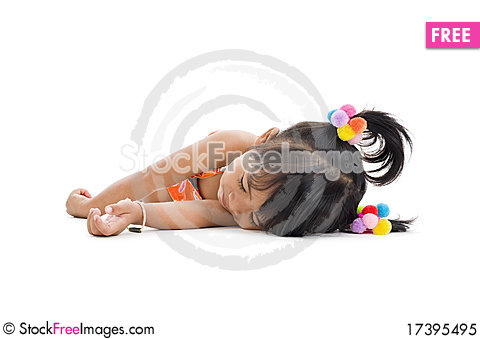 Free Cute Little Girl Sleeping Royalty Free Stock Photo - 17395495