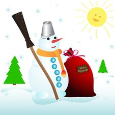 Free Snowman Stock Images - 17390154