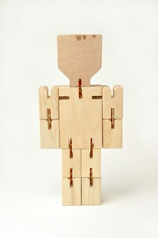 Standing Wooden Figure Royalty Free Stock Photos