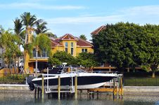 Free Luxury Tropical Home And Boats Stock Photos - 17390633