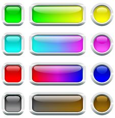 Multi-colored Buttons. Royalty Free Stock Images