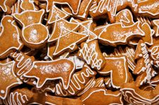 Free Gingerbread Cookies Royalty Free Stock Photography - 17391197