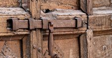 Free Ancient Bolt And Door Royalty Free Stock Image - 17391296