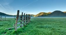 Mountain Plain In Early Morning Royalty Free Stock Photo