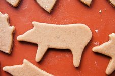 Free Christmas Gingerbread Pig Stock Image - 17391381