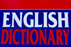 Free English Dictionary Stock Photo - 17392250