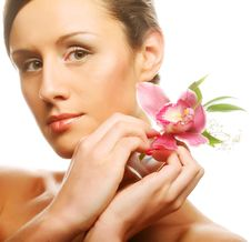 Free Beautiful With  Orchid Flower Stock Photos - 17392553