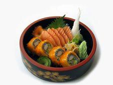 Free Sashimi Sushi Combo 3 Royalty Free Stock Image - 17392676