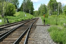 Free Muskoka Rail Track Stock Photography - 17393072