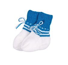 Turquoise Socks For The Newborn Royalty Free Stock Photos
