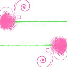 Free Pink Green Swirls Dots Background Stock Image - 17394211