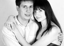 Free Love Couple In Studio Stock Photo - 17394400