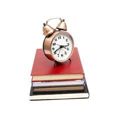 Clock And Books Stock Photos