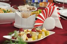 Free Appetizer On A Table. Royalty Free Stock Photos - 17395398