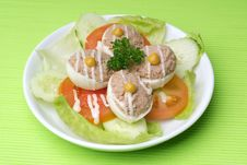 Free Egg Tuna Salad Royalty Free Stock Photography - 17395407