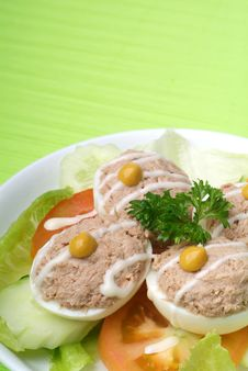 Free Egg Tuna Salad Stock Photo - 17395420