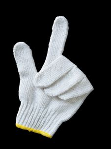 Free White Glove Yarn Display A Signal It Is Select Royalty Free Stock Photography - 17395867