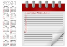 Free Calendar For Year 2011. Vector. Royalty Free Stock Photo - 17395935