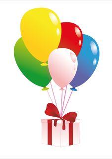 Free Gift And Balloon Stock Photos - 17396043