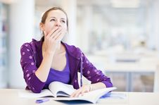 College Student In A Library Royalty Free Stock Photo
