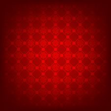 Free Seamless Deep Red Christmas Texture Pattern. EPS 8 Royalty Free Stock Images - 17396329