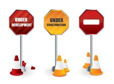 Free Under Development Signposts Royalty Free Stock Photos - 17397008