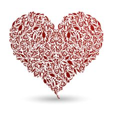 Free Red Pattern Heart Royalty Free Stock Image - 17397556