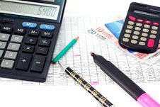 Free Financial Calculation Royalty Free Stock Photography - 17397567