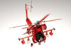 Free Red Helicopter Stock Photography - 17398152