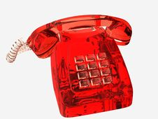Free Red Glassy Phone Royalty Free Stock Photos - 17398208