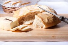Free Fresh Bread And Cheese Royalty Free Stock Photo - 17398405