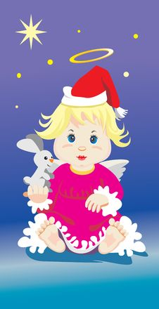 Free Angel With A Toy Royalty Free Stock Images - 17398509