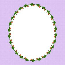 Free Oval Christmas Frame Royalty Free Stock Image - 17399006