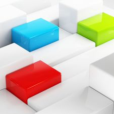 Free Abstraction Cubes Stock Image - 17399631