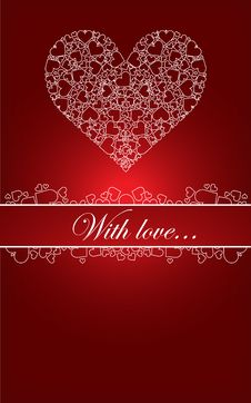 Free Nice Card With Hearts Stock Photography - 17399882
