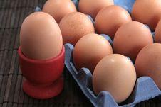 Free Basket Of Fresh Eggs Stock Photography - 17399982