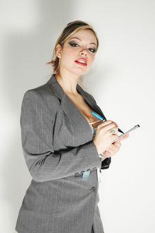 Free Overexposed Businesswoman Royalty Free Stock Photos - 1740148