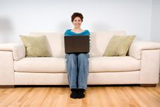 Free Woman On Her Laptop Royalty Free Stock Photography - 1742187
