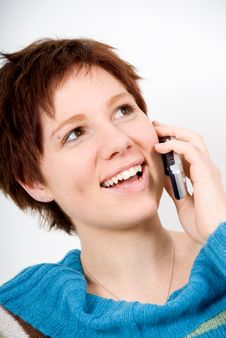 Free On The Phone Stock Photo - 1742300