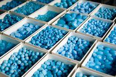 Blue Beads Stock Photos
