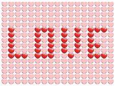 Love From Hearts Stock Images