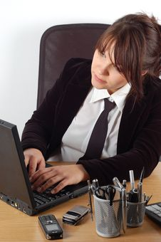 Free Businesswoman At Desk 8 Royalty Free Stock Images - 1744989