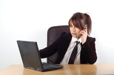 Free Businesswoman At Desk 8 Royalty Free Stock Images - 1745159