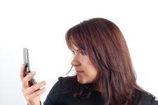 Free Phone Woman 8 Stock Photo - 1745270