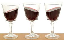 Free Three Wineglasses And Gravity Stock Photos - 1745353