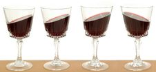 Free Wineglasses On A Line Royalty Free Stock Photo - 1745365