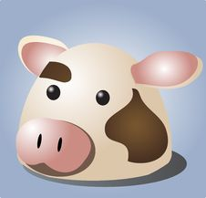 Free Cow Cartoon Royalty Free Stock Photos - 1745828
